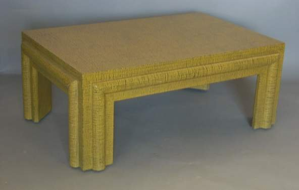 10: Springer style faux linen coffee table, sailcloth
