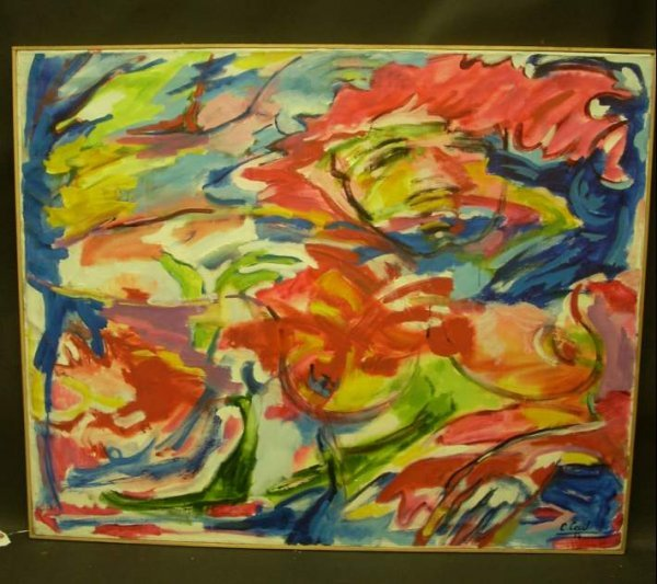 "14: Cecily Cecil ""Sensualite"" oil on canvas, signed C."