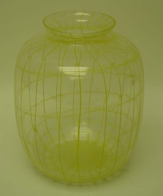 16: Bohemian hand blown art glass vase, C. 1960-70s,  u
