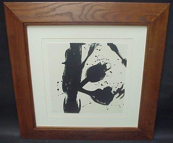 17: After Motherwell work on paper, pencil signed  ille