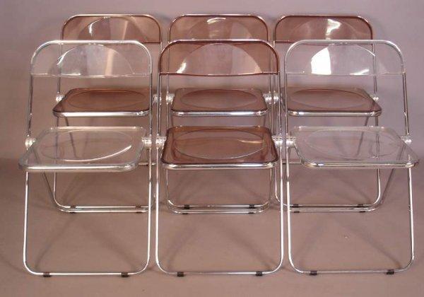 5: Castelli / Italy Plia folding chairs, set of 6,  chr