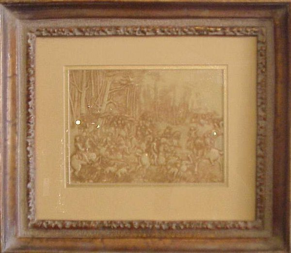 1012: Celluloid relief American Revolution battle scene