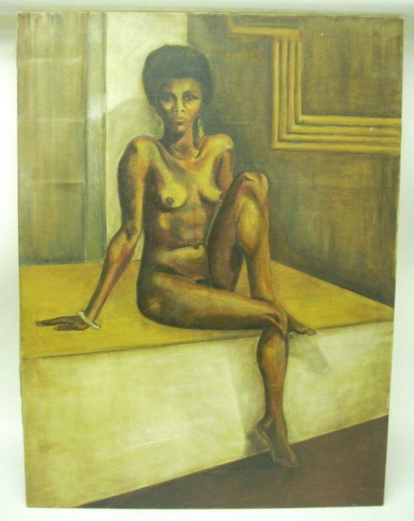 "1047: Portrait of a nude, oil on canvas, 40"" x 30"",  un"