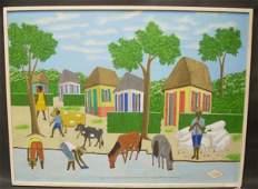 1062: Jean Claude Severe (20th C, Haiti) Haitian Villag