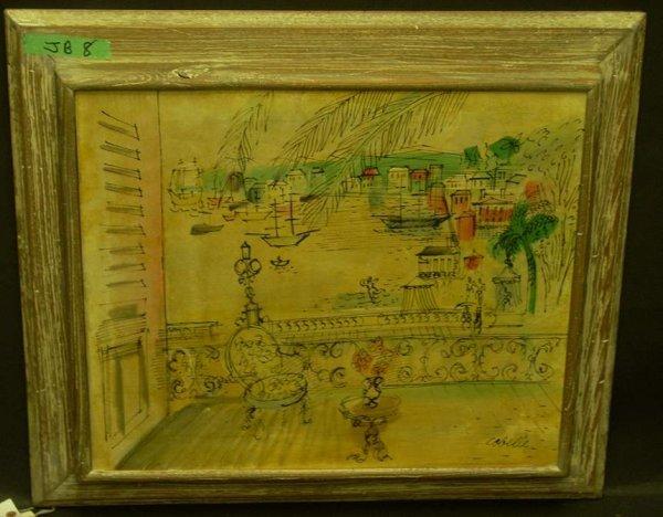 1197: Charles Cobelle (1902-?, France) French terrace