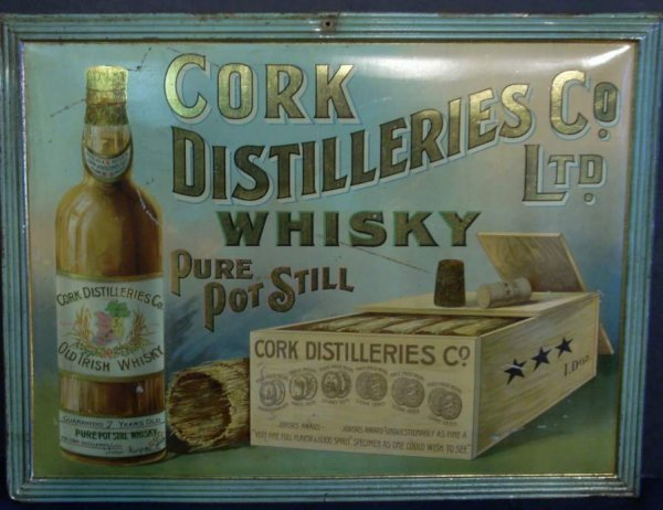 1008: Vintage Whisky advertising tin, Cork Distilleries