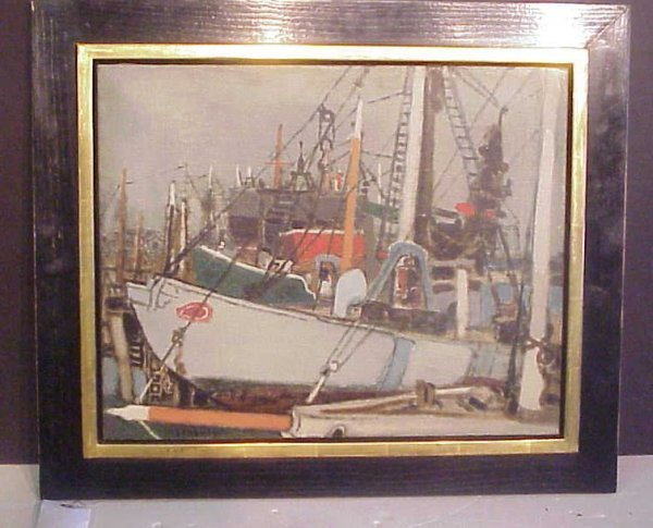 2251: Eric Isenburger (1902-1971, NY) Pair of harbor  s