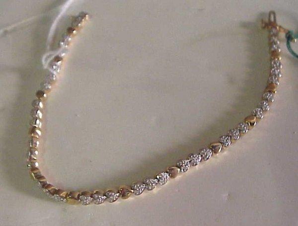 2031: 14k gold and diamond bracelet, 1/2 ctw diamonds,