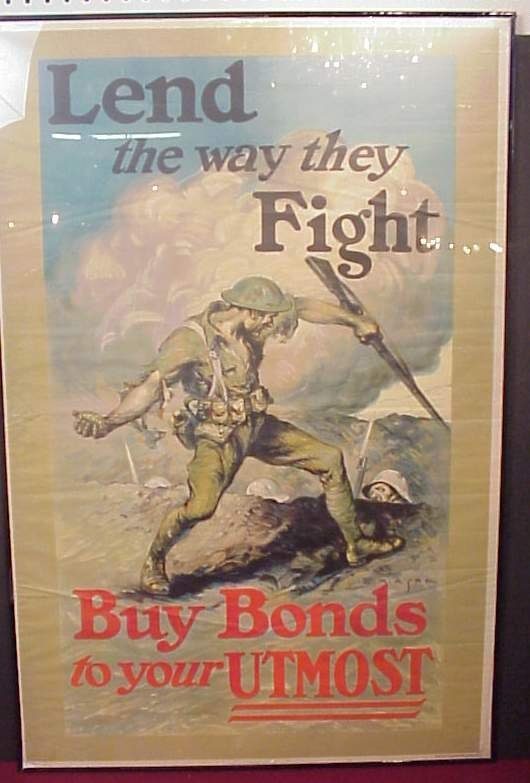 3021: World War I bonds poster, published by The W.F.