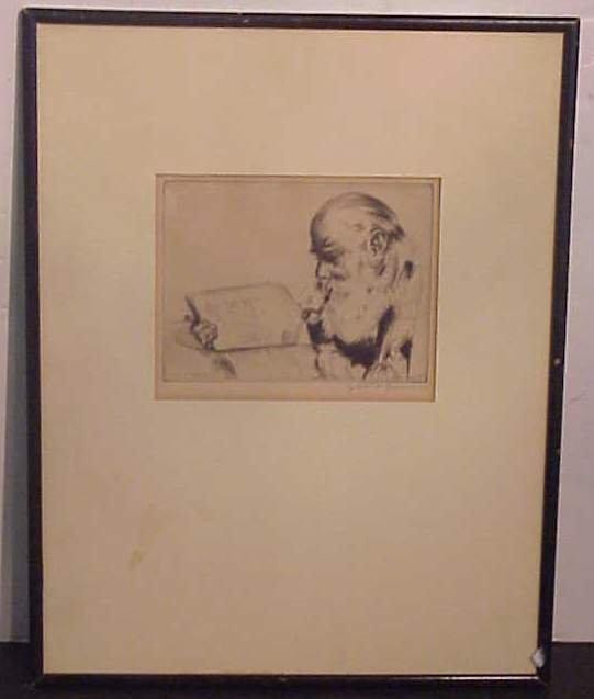 "3008: Elias Grossman (1898-Brooklyn, NY) ""Quiet Hour"""