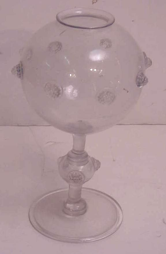 """16: Antique glass apothecary vessel, 10 1/2""""h"""