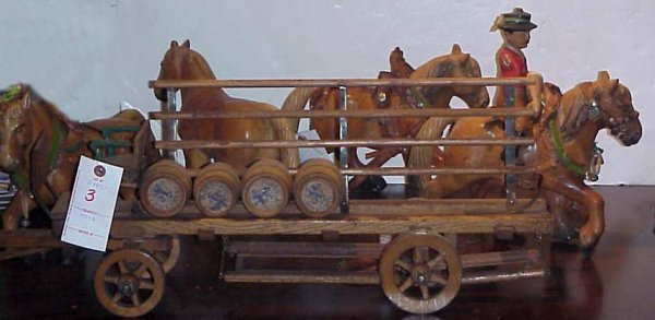 3: Lowenbrau Beer advertising horse and wagon with a  f