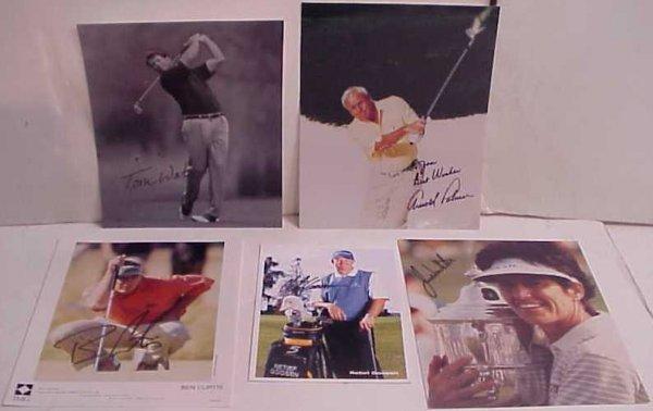 "1016: Arnold Palmer autographed photo 8""x10, Tom Watson"