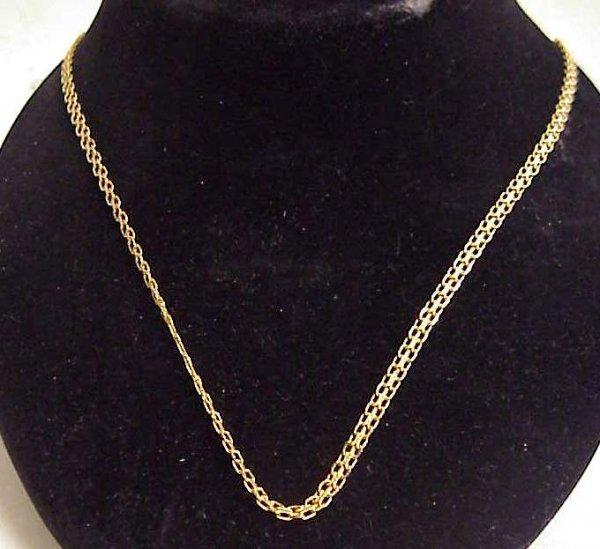 1018: 14k gold link necklace 6.12 dwt