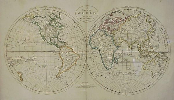 "2024: Mathew Carey (19th c.mapmaker) ""A Map of the Worl"