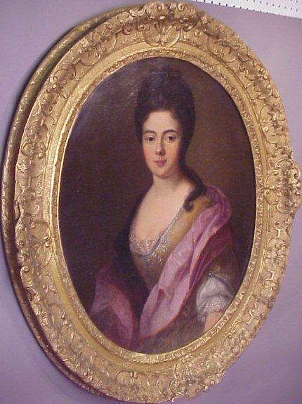 2020: 18thc possibly Russian portrait of a beauty, oil