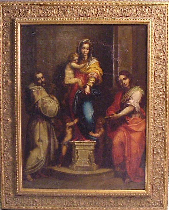 2013: 18/19th C Old Master Holy Family copy, oil on  ca