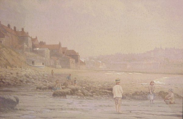 2005: Pair of English village seashore scenes,  waterco