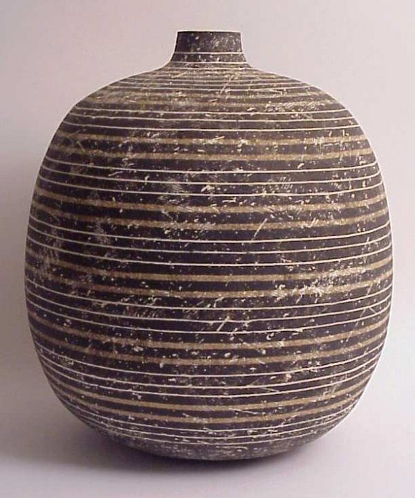 "3197: Claude Conover glazed stoneware vessel ""Ehelac"""