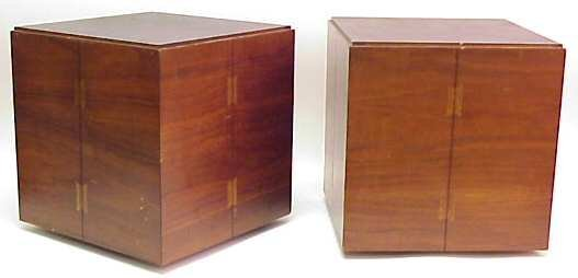 3005: Lane / Alavista, pair of  side tables on casters,