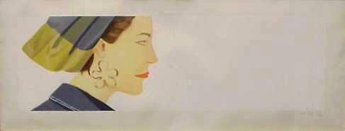 3377: Alex Katz (1927-N.Y.) Litho in colors,signed &  n