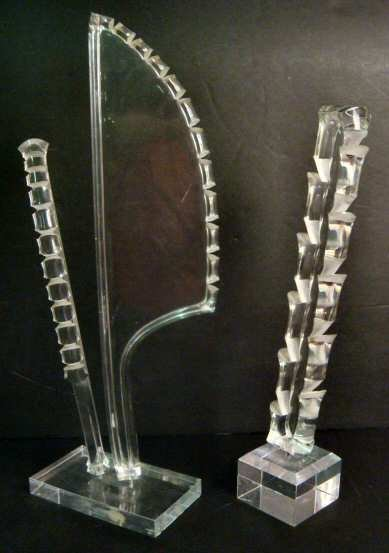 3020: 2 lucite sculptures, Astrolite Ritts Company,  tr