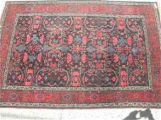 "44: Antique Persian carpet 4'6"" x  6'8"".,tree of life"