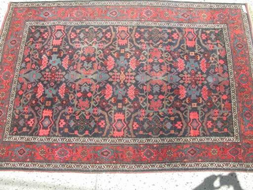 "44: Antique Persian carpet 4'6"" x  6'8"".,tree of life"