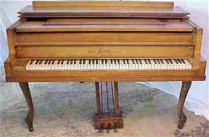 100: Smith & Zeidler Grand Piano, Paris painted  casewo