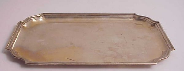 "36: Continental silver tray 16 ounces, 12"" x 8"",  marke"