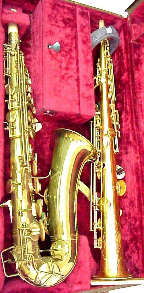 58: Vintage Conn alto saxophone and soprano saxophone