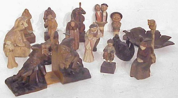 5A: Anri lot, bears, gnome bookends, figures, approx.