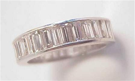 1116: Tiffany diamond eternity band, approx 6.5 carats