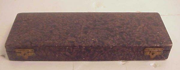 1021: Celluloid (?) desk set including letter opener,