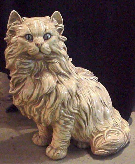 "2001: Composition figure of a cat, 23""h"