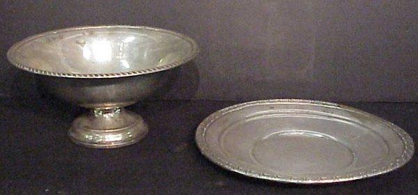 "2024: Gorham sterling dish 9 3/4"" diameter, 9 1/2""  oun"