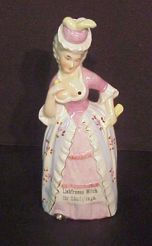 2002: Naughty lady milk pitcher, German, 19/20thc, 7  1