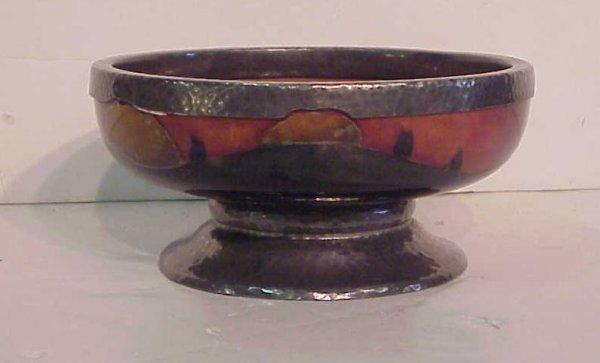 2014: Moorcroft bowl, tree pattern, Sheffield silver  m