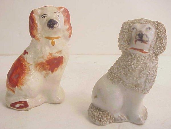 2023A: 2 Staffordshire dog figures including a Poodle 3
