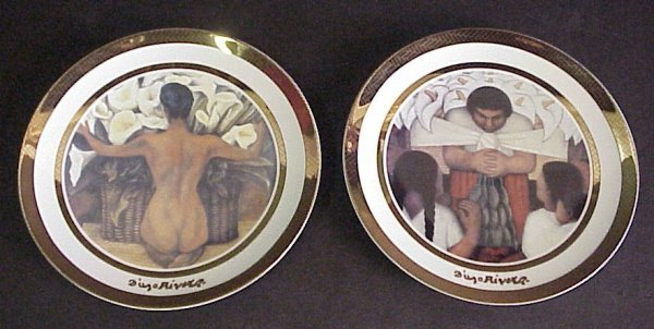 "16: 2 Diego Rivera Rosenthal collector plates,  ""Desnud"