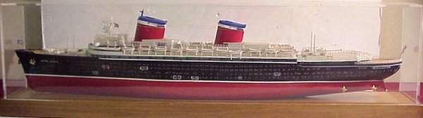 148: United States ocean liner model, painted wood,  37