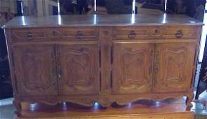 100: Country French sideboard, fruitwood, mid 20thc, 7