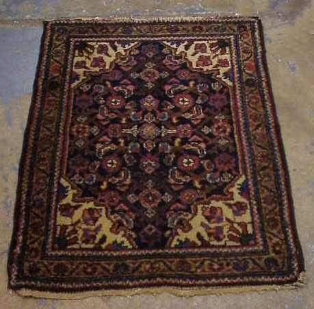 "2: SMALL ORIENTAL RUG OR MAT, 31"" X 25"""