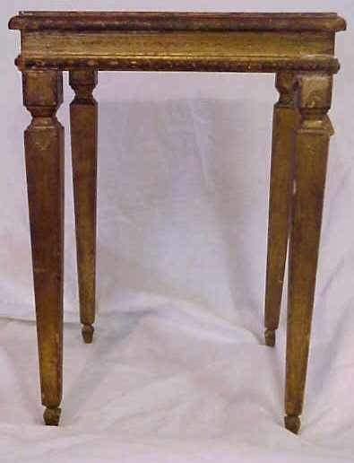 11: SMALL ITALIAN FLORENTINE END TABLE.