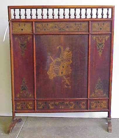 20: VICTORIAN STICK AND BALL FIRESCREEN