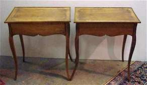 32: PR. MID 20THC COUNTRY FRENCH FRUITWOOD END TABLES