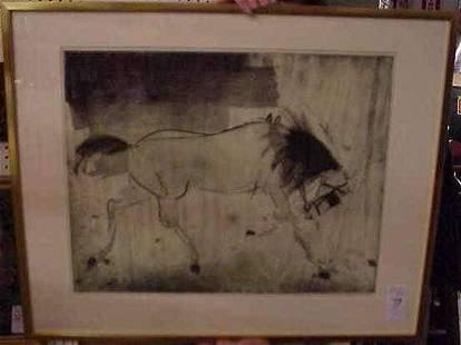 73: KAIKO MOTI (1926-1989 INDIA) ETCHING OF A HORSE