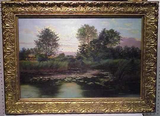 93A: PAUL BIVA (1851-1900 FR.)OIL ON CANVAS, LANDSCAPE