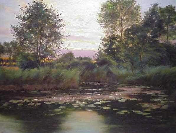 93A: PAUL BIVA (1851-1900 FR.)OIL ON CANVAS, LANDSCAPE - 2