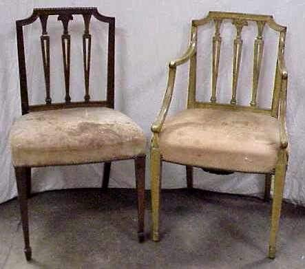 150: SEVEN EARLY 19THC MAHOGANY HEPPLWHITE CHAIRS
